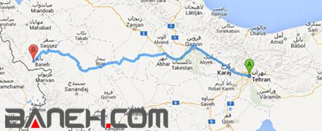 وضعیت جاده بانه سقز نقشه مسیرها و راه های مسافرت به شهر بانه | بانه دات کام ...