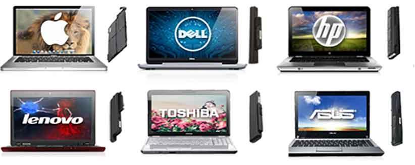 انواع برند های مختلف لپ تاب