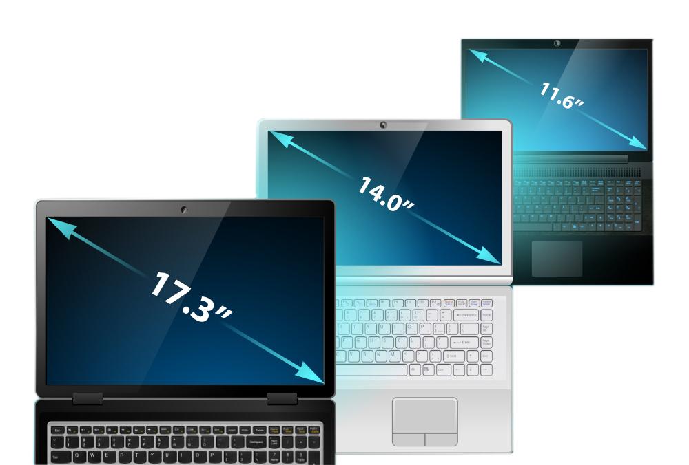 اندازه های مختلف لپ تاپ