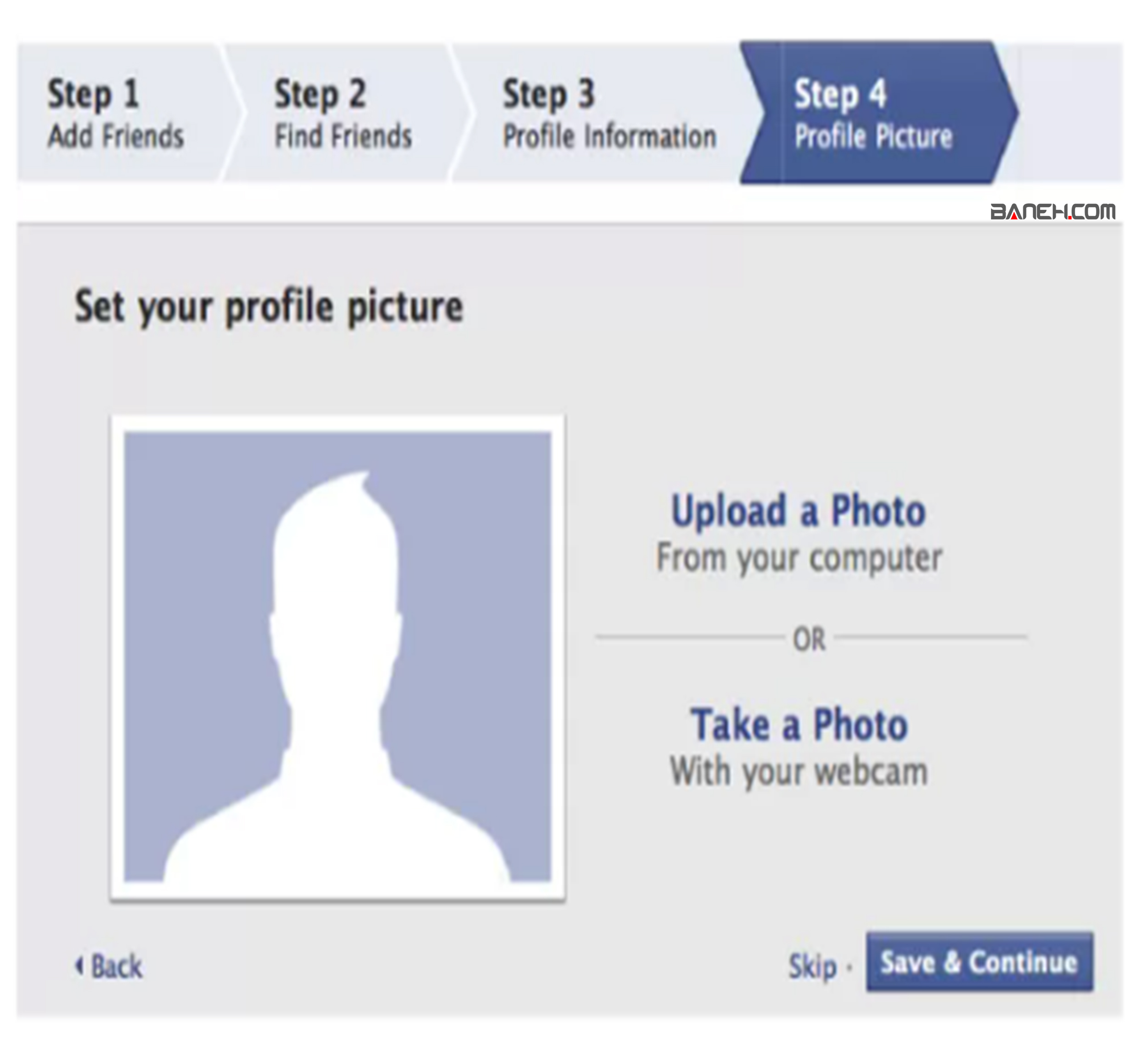 مرحله 4 نصب فيسبوک
