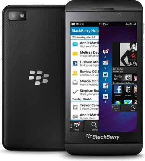 گوشی موبایل بلک بری blackberry z10