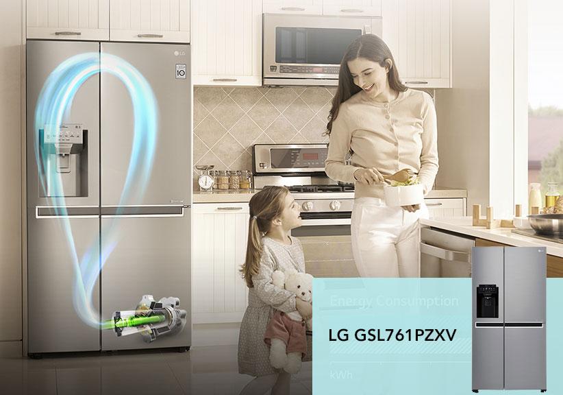 یخچال ساید بای ساید ال جی 30 فوت LG GSL761PZXV