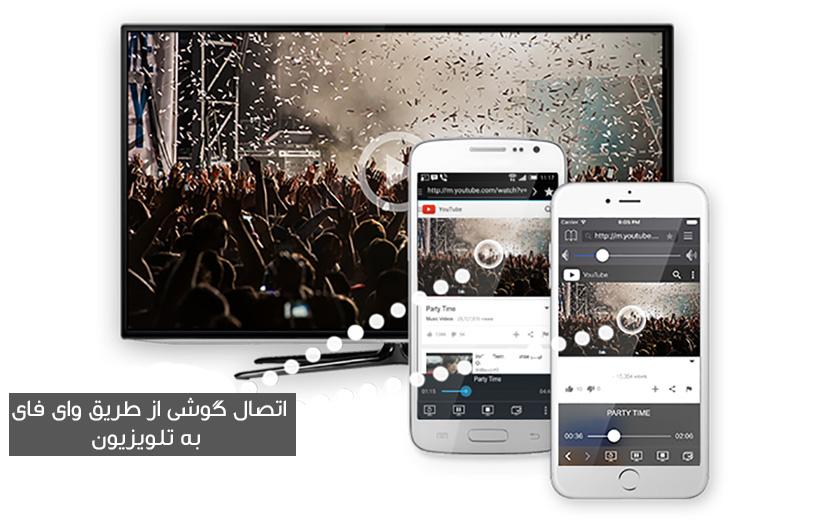 اتصال گوشی به تلویزیون از طریق WiFi
