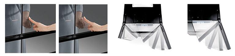 یخچال هیتاچی قابلیت باز شدن درب تنها با یک لمس Auto